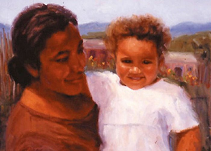 Mother Greeting Card featuring the painting Esperanza by Bunny Oliver