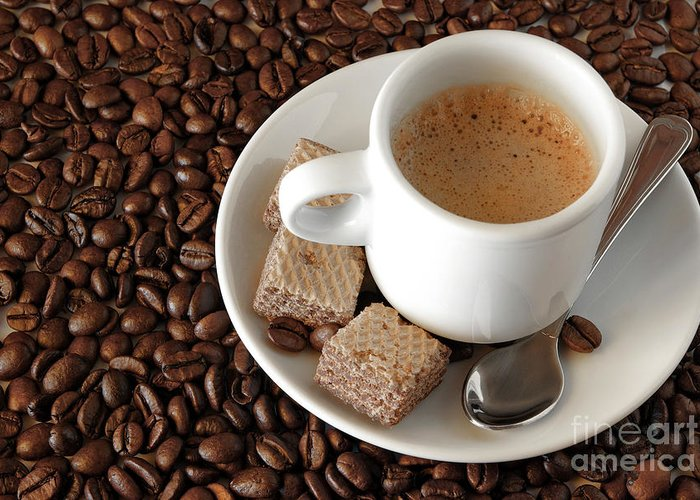 Addiction Greeting Card featuring the photograph Espresso Coffee by Carlos Caetano