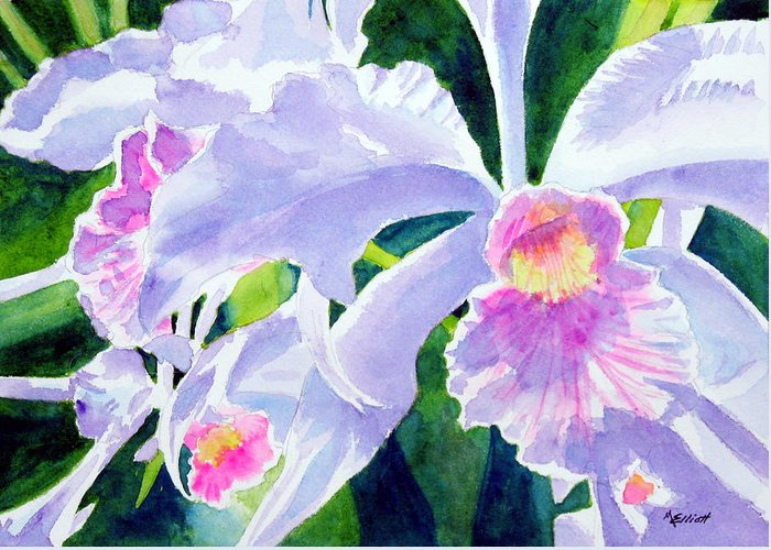 Flower Greeting Card featuring the painting Essence Of Love by Marsha Elliott