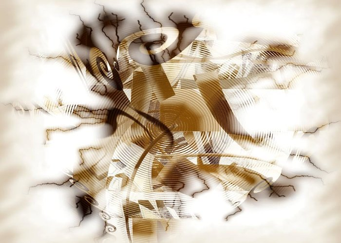Abstract Greeting Card featuring the digital art Establish by Dreamlight Creations
