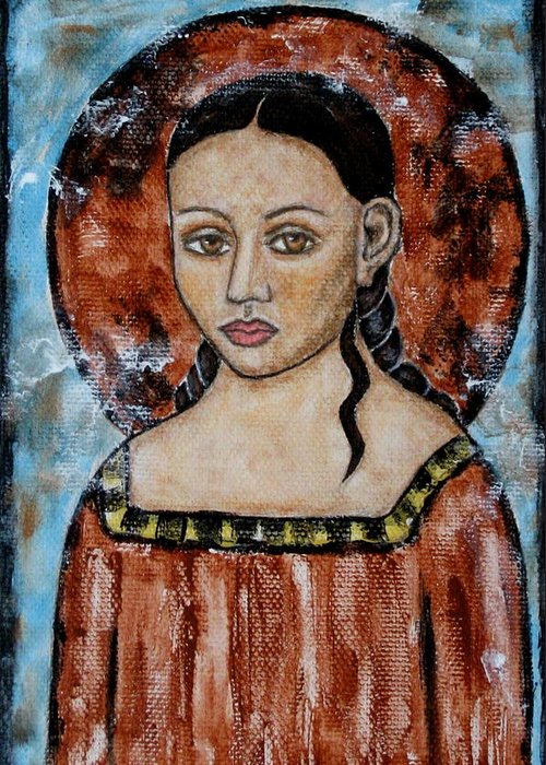Paintings Greeting Card featuring the painting Esther by Rain Ririn