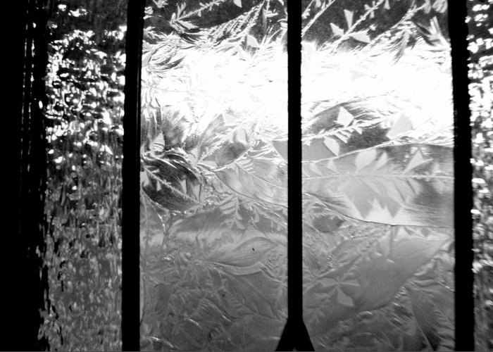 Etched Glass Greeting Card featuring the photograph Etched In Glass by Laura DAddona