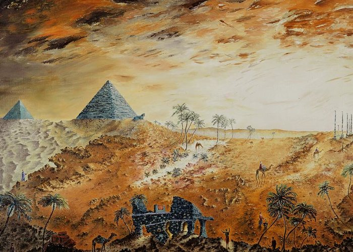 Egypt Greeting Card featuring the painting Eternity by Richard Barham