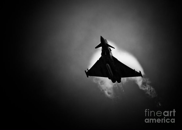 Royal Greeting Card featuring the photograph Eurofighter Typhoon by Rastislav Margus