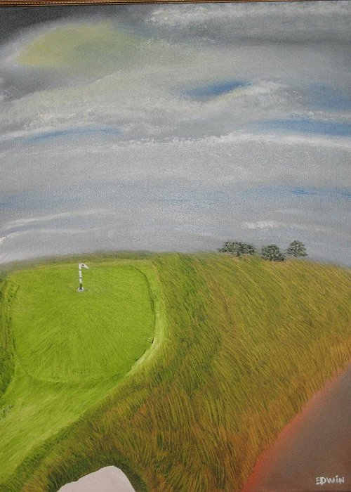 Landscape Greeting Card featuring the painting European Golf Tour by Edwin Long