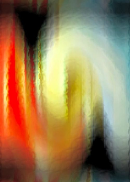 Abstract Greeting Card featuring the digital art Evanescent Emotions by Gwyn Newcombe