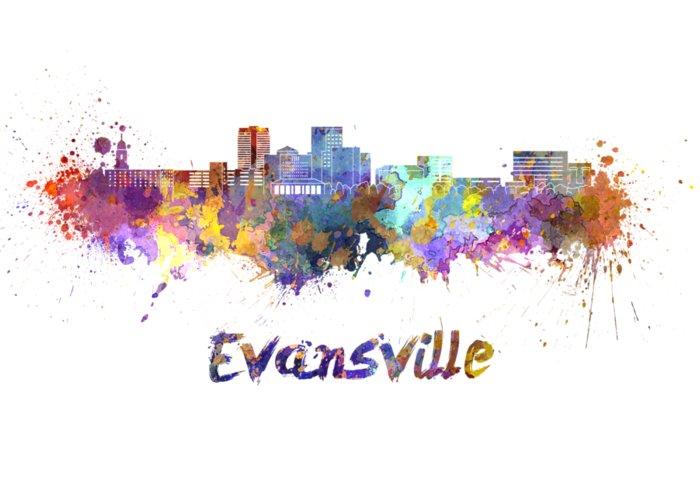 Evansville Paintings Greeting Cards