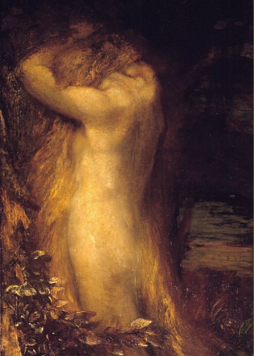 George Frederic Watts Greeting Card featuring the painting Eve Repentant by George Frederic Watts