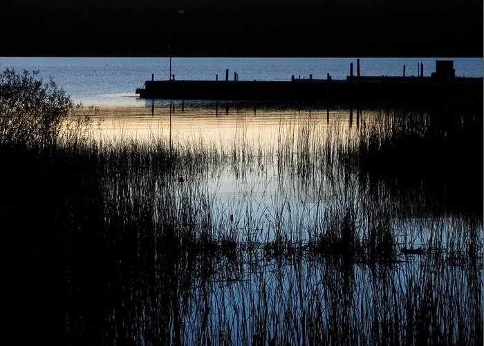 Lake Greeting Card featuring the photograph Evening Glow by Mary Wolf