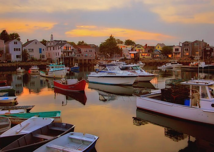 Rockport Greeting Card featuring the photograph Evening In Rockport by Joann Vitali