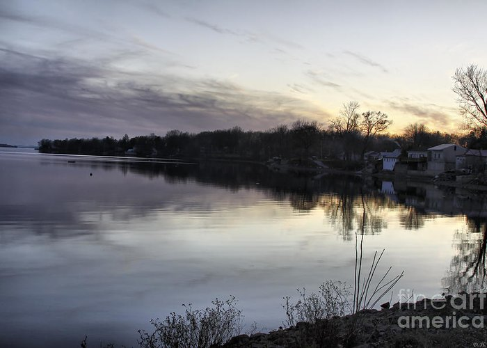 Lake Champlain Greeting Card featuring the photograph Evening Light On Lake Champlain by Deborah Benoit