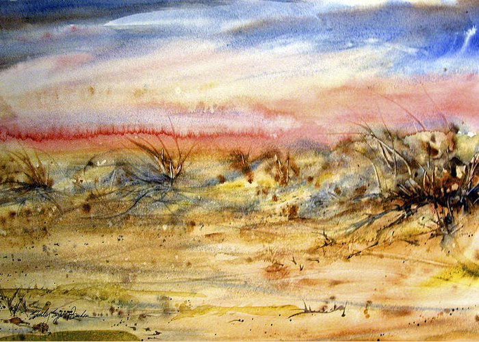 Sanddunes Paintings Greeting Cards