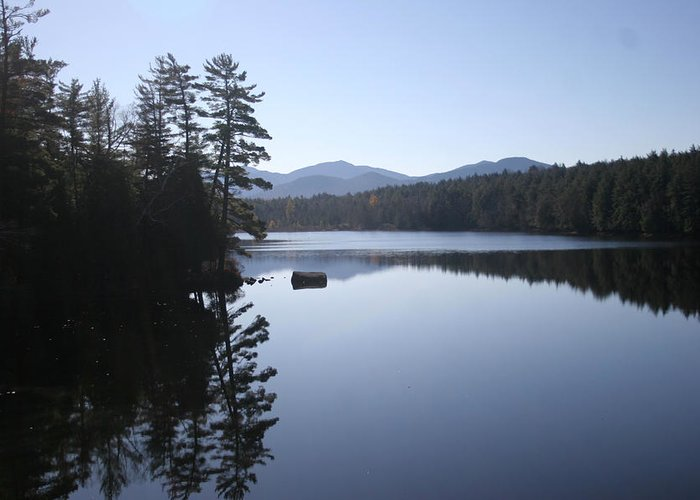 Adirondacks Greeting Card featuring the photograph Evening On The Lake by Kate Leikin