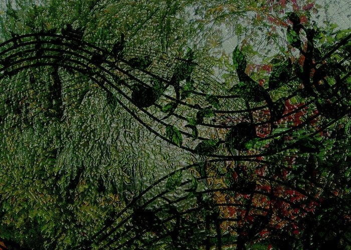 Nature Greeting Card featuring the digital art Ever Green Song by Carole Guillen