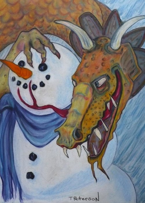 Dragon Greeting Card featuring the painting Ever Have One Of Those Days by Todd Peterson