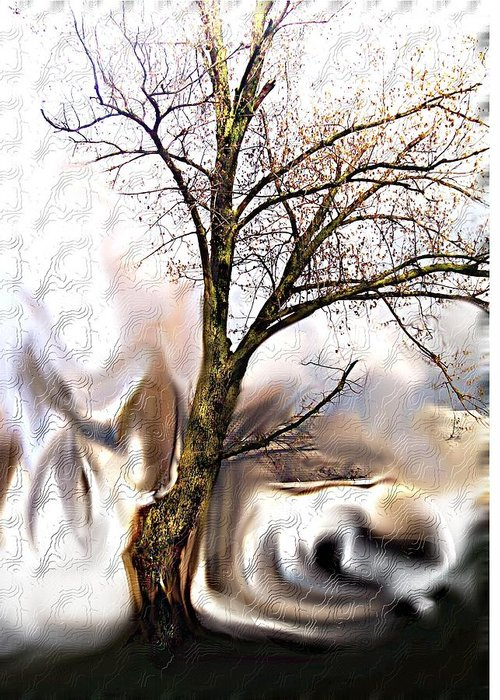 Landscape Greeting Card featuring the digital art Everlasting by Crystal Webb
