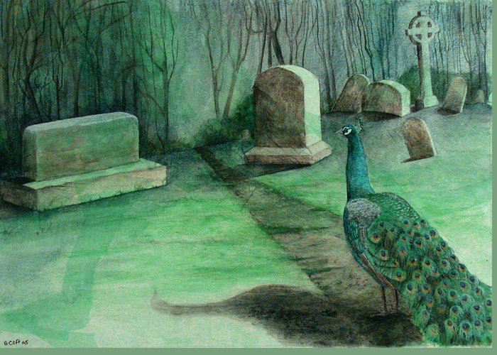 Cemetery Greeting Card featuring the painting Everlasting Life by Sandy Clift