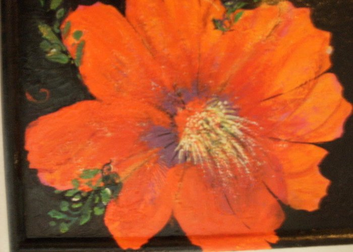 Redflower Greeting Card featuring the painting Every Day Is A Holiday by Anne-Elizabeth Whiteway