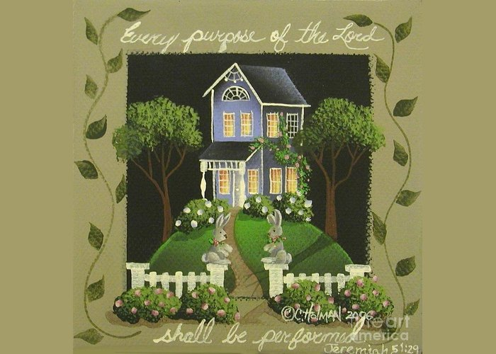 Art Greeting Card featuring the painting Every Purpose Of The Lord... by Catherine Holman