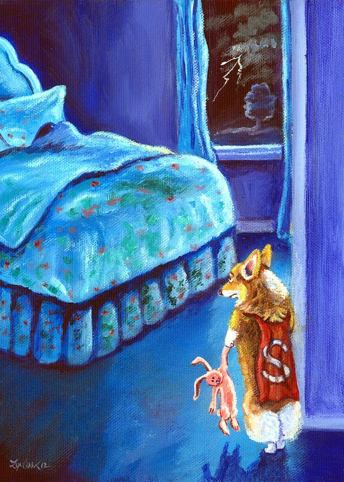 Pembroke Welsh Corgi Greeting Card featuring the painting Every Super Hero Has A Moment by Lyn Cook