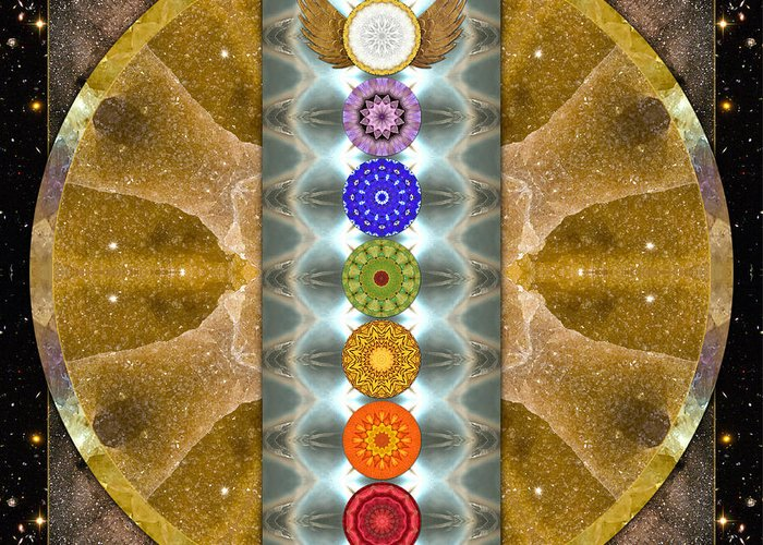 Chakras Greeting Card featuring the photograph Evolving Light by Bell And Todd