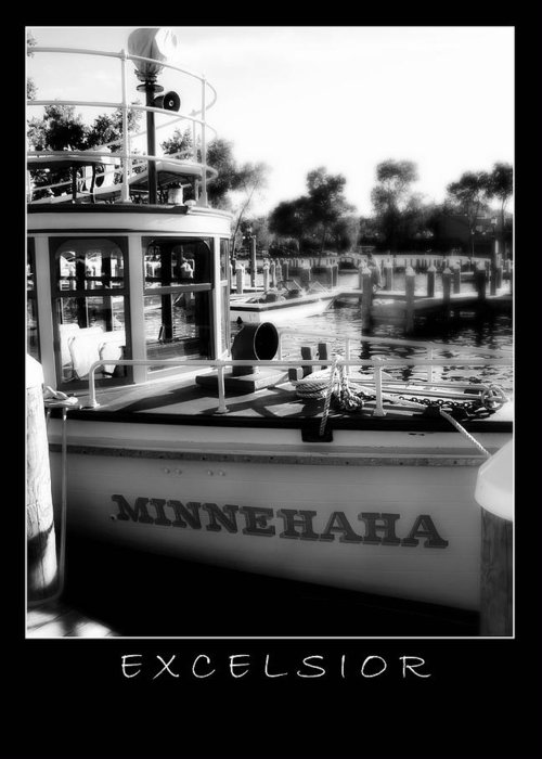 Boat Greeting Card featuring the photograph Excelsior 2 by Perry Webster