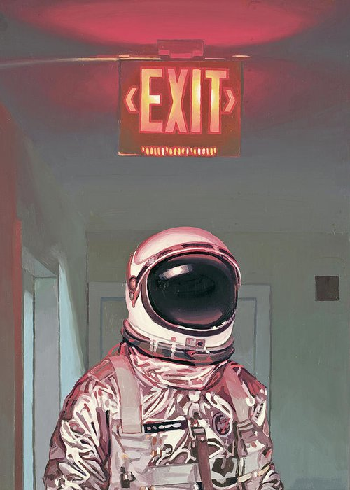 Exit Sign Greeting Cards