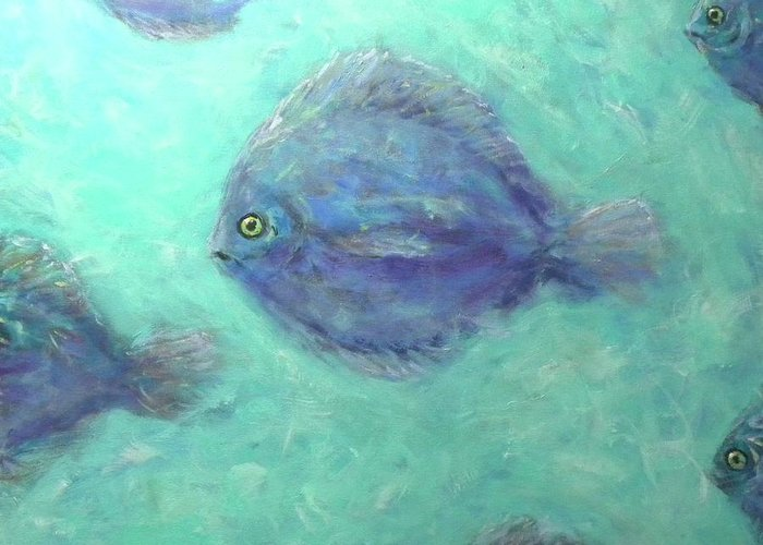 Fish Greeting Card featuring the painting Exotic Fish by Paul Emig