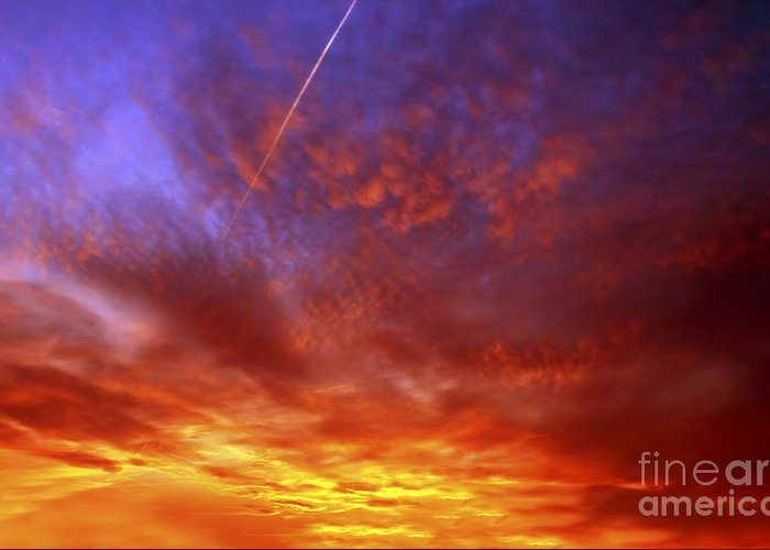 Sunset Greeting Card featuring the photograph Exploded Sky by Michal Boubin