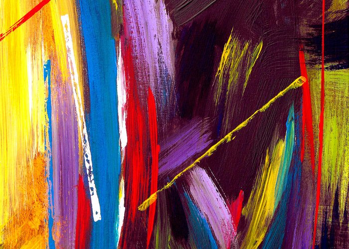 Abstract Greeting Card featuring the painting Express Yourself by Ruth Palmer