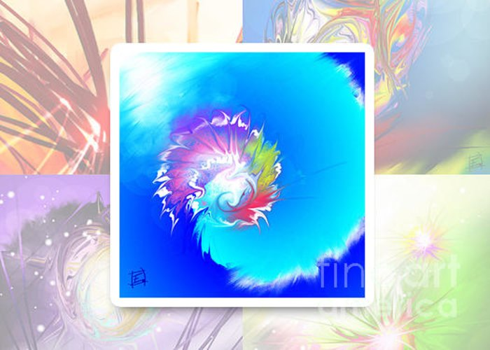 Zen Greeting Card featuring the painting Expression 02 by Elfriede De Rooster
