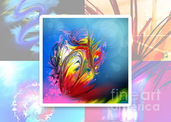 Zen Greeting Card featuring the painting Expression 10 by Elfriede De Rooster