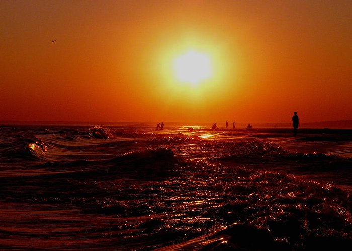 Beach Greeting Card featuring the photograph Extreme Blazing Sun by Kendall Eutemey