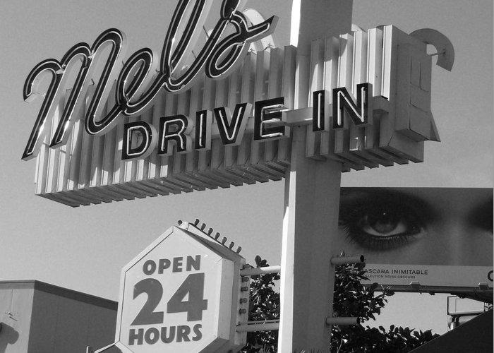 Mel's Greeting Card featuring the photograph eye love Mel's by WaLdEmAr BoRrErO