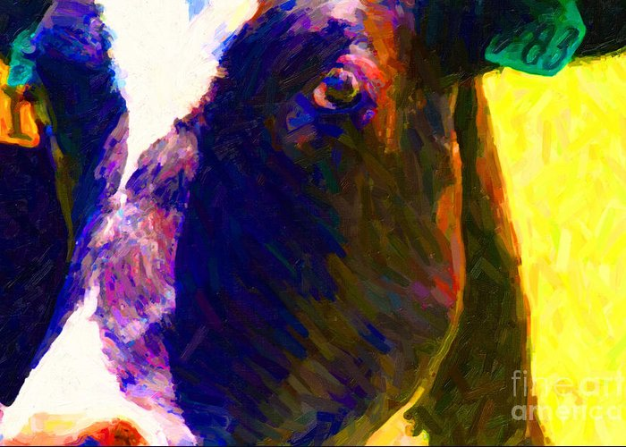 Eye Of Cow 783 Photoart Greeting Card For Sale By Wingsdomain Art