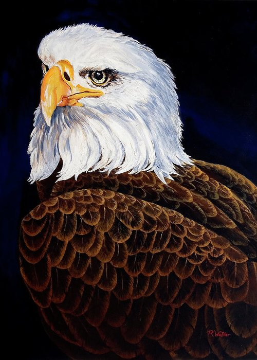 Eagle Greeting Card featuring the painting Eye Of The Eagle by Robert M Walker