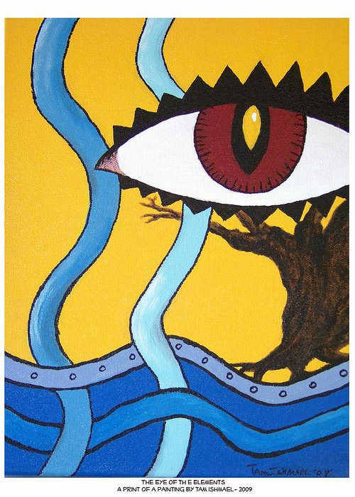 Eye Greeting Card featuring the painting Eye Of The Elements by Tammy Ishmael - Eizman