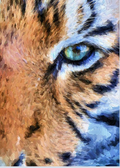Tiger Greeting Card featuring the photograph Eye Of The Tiger by JC Findley