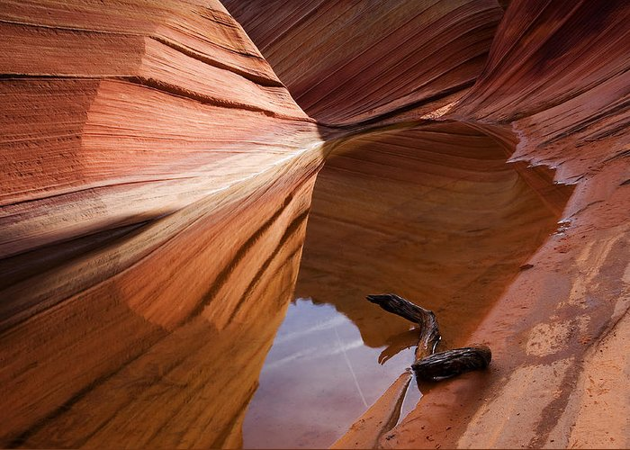 Wave Rock Greeting Card featuring the photograph Eye Of The Wave by Mike Dawson