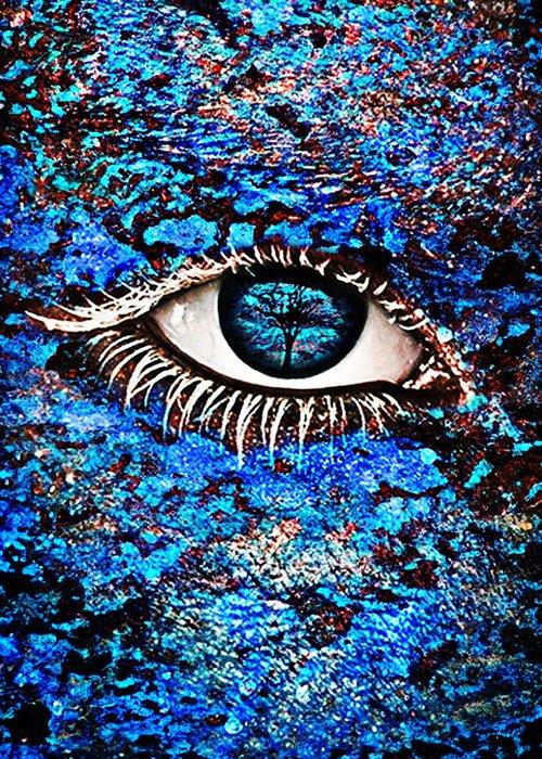 Human Eye Greeting Card featuring the photograph Eyelash by Yosi Cupano