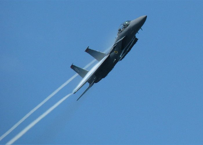 Usaf Greeting Card featuring the photograph F-15 Strike Eagle by Samuel Sheats
