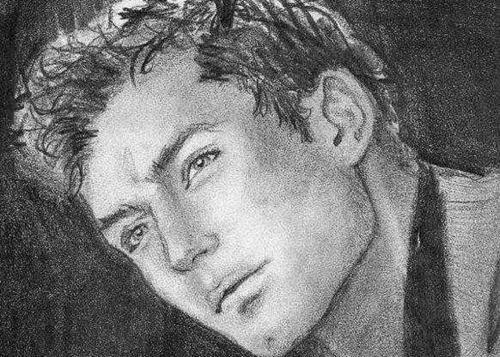 Jude Law Greeting Card featuring the drawing Face by Laura Rispoli