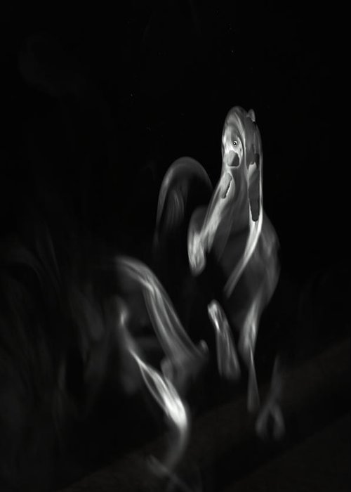 Smoke Greeting Card featuring the photograph Faces In Smoke 1161 by Alfredo Martinez