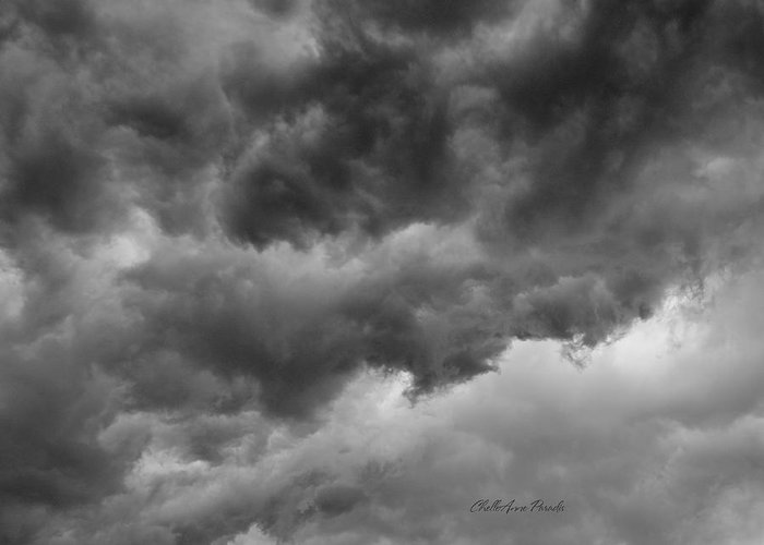 Clouds Greeting Card featuring the photograph Faces In The Mist Of Chaos by ChelleAnne Paradis