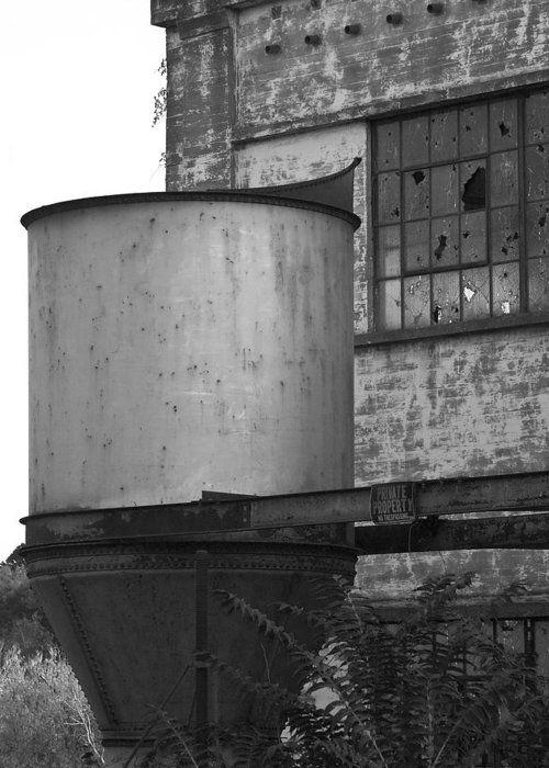 Factory Greeting Card featuring the photograph Factory Hopper by John Magor