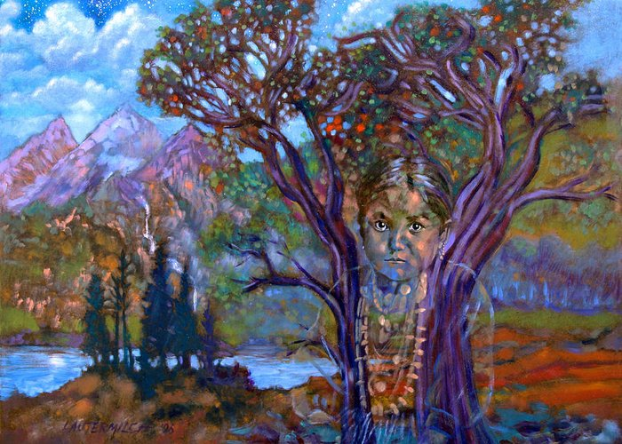 Child Greeting Card featuring the painting Faded Memories by John Lautermilch