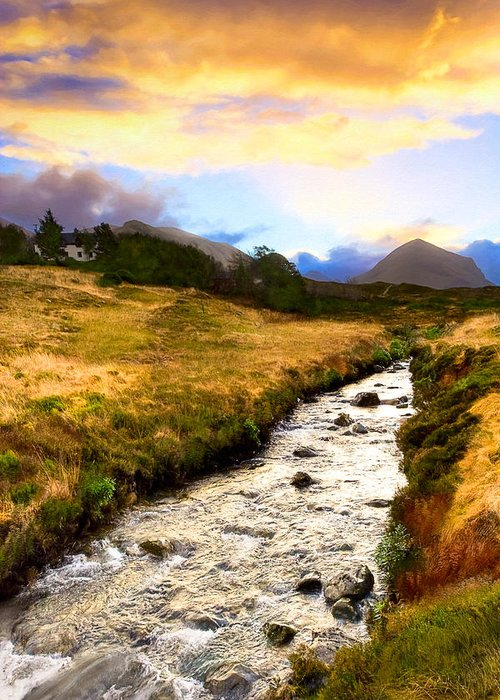 Scottish Greeting Card featuring the photograph Faerie Lands - Beautiful Morning On The Isle Of Skye by Mark E Tisdale