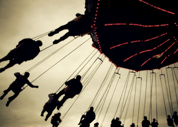 Fair Greeting Card featuring the photograph Fair Flying by Kerry Langel