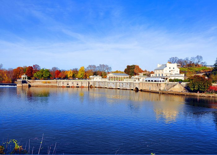 Fairmount Greeting Card featuring the photograph Fairmount Water Works - Philadelphia by Bill Cannon