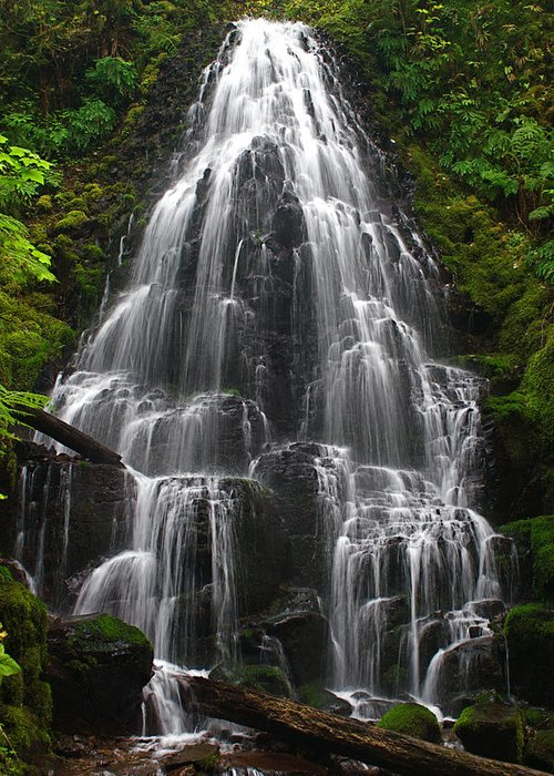 Fairy Falls Greeting Card featuring the photograph Fairy Falls by Todd Kreuter